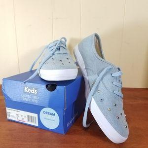 Keds Light Denim Studded Sneaker